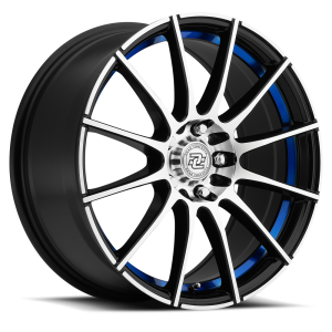 Drag Concepts R16 17X7 Gloss Black Blue Inner