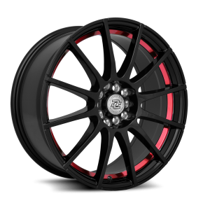 Drag Concepts R16 16X7 Gloss Black Red Inner