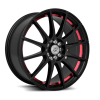 Drag Concepts R16 17X7 Gloss Black Red Inner