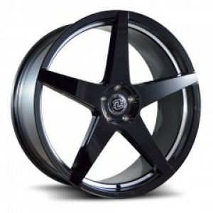 Drag Concepts R18 22X10.5 Black Machine Undercut