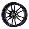 Drag DR 38 Black with Blue Stripe Lip 17 X 9 Inch Wheels
