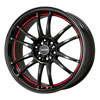 Drag DR 38 Gloss Black with Red Stripe Wheel Packages