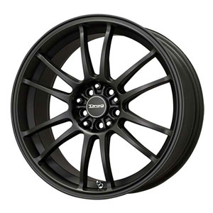 Drag DR 38 Flat Black Wheel Packages
