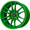 Drag DR 38 Neon Green 17 X 7 Inch Wheels