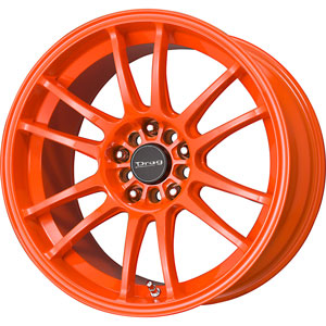 Drag DR 38 Neon Orange Wheel Packages