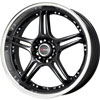 Drag DR 40 Gloss Black with Machined Lip 17 X 7.5 Inch Wheels