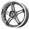 Drag DR 40 Gun Metal with Machined Lip 17 X 7.5 Inch Wheels