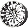Drag DR 43 Gun Metal with Machined Face 17 X 8 Inch Wheels
