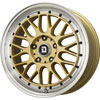 Drag DR 44 Gold with Machined Lip 15 X 7 Inch Wheels