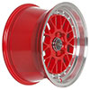 Drag DR 44 Red with Machined Lip 15 X 7 Inch Wheels