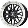 Drag DR 45 Gloss Black with Machined Lip 17 X 7.5 Inch Wheels