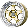 Drag DR 46 Gold with Machined Lip 15 X 7 Inch Wheels