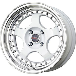 Drag DR 46 White with Machined Lip Wheel Packages