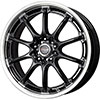 Drag DR 47 Gloss Black with Machined Lip 17 X 7 Inch Wheels