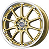 Drag DR 47 Gold with Machined Lip 17 X 7 Inch Wheels