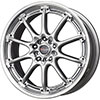 Drag DR 47 Silver with Machined Lip 17 X 7 Inch Wheels