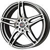 Drag DR 50 Gun Metal Machined Face 17 X 7 Inch Wheels