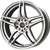 Drag DR 50 Silver Machined Face 17 X 7 Inch Wheels
