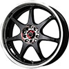 Drag DR 51 Gloss Black Machined Face 17 X 7 Inch Wheels