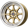Drag DR 54 Gold with Machined Lip 15 X 8.25 Inch Wheels