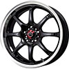 Drag DR 55 Gloss Black with Machined Lip 17 X 7 Inch Wheels
