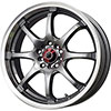 Drag DR 55 Gun Metal with Machined Lip 17 X 7 Inch Wheels