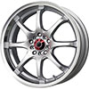 Drag DR 55 Silver with Machined Lip 17 X 7 Inch Wheels