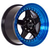 Drag DR 57 Gloss Black with Blue Lip 15 X 8.25 Inch Wheels