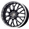 Drag DR 19 Gloss Black Machined Lip 17 X 7.5 Inch Wheels