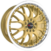 Drag DR 19 Gold Machined Lip 18 X 7.5 Inch Wheels