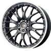 Drag DR 19 Gun Metal Machined Lip 16 X 7 Inch Wheels