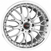 Drag DR 19 Silver Machined Lip 15 X 7 Inch Wheels