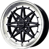 Drag DR 20 Gloss Black Machined Face 15 X 7 Inch Wheels