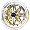 Drag DR 20 Gold Machined Face 15 X 7 Inch Wheels
