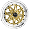 Drag DR 20 Gold Machined Lip 16 X 7 Inch Wheels