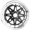 Drag DR 20 Gun Metal Machined Lip 15 X 7 Inch Wheels