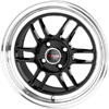 Drag DR 21 Gloss Black Machined Lip 17 X 7.5 Inch Wheels