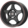 Drag DR 23 Flat Black w Red Stripe 15 X 6.5 Inch Wheels