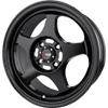 Drag DR 23 Flat Black 16 X 7 Inch Wheels