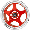 Drag DR 23 Red Machined Lip 15 X 6.5 Inch Wheels