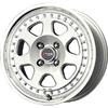 Drag DR 27 Silver Machined Lip 15 X 7 Inch Wheels