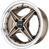 Drag DR 30 Bronze Machined Face 15 X 7 Inch Wheels