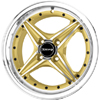 Drag DR 30 Gold Machined Face 15 X 7 Inch Wheels
