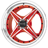 Drag DR 30 Red Machined Face 15 X 7 Inch Wheels