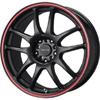Drag DR 31 Flat Black w Red Stripe Wheel Packages