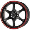 Drag DR 32 Flat Black w Red Stripe Wheel Packages