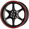 Drag DR 32 Flat Black w Red Stripe 17 X 7.5 Inch Wheels