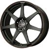 Drag DR 33 Flat Black w Red Stripe Wheel Packages