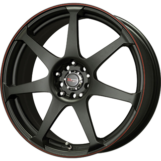 Drag DR 33 Flat Black w Red Stripe Wheel Packages