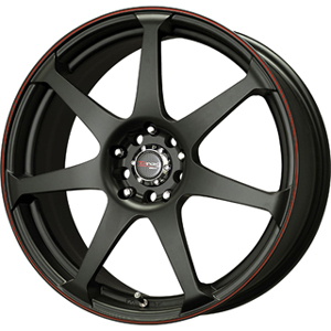 Drag DR 33 Flat Black w Red Stripe 18 X 7.5 Inch Wheels